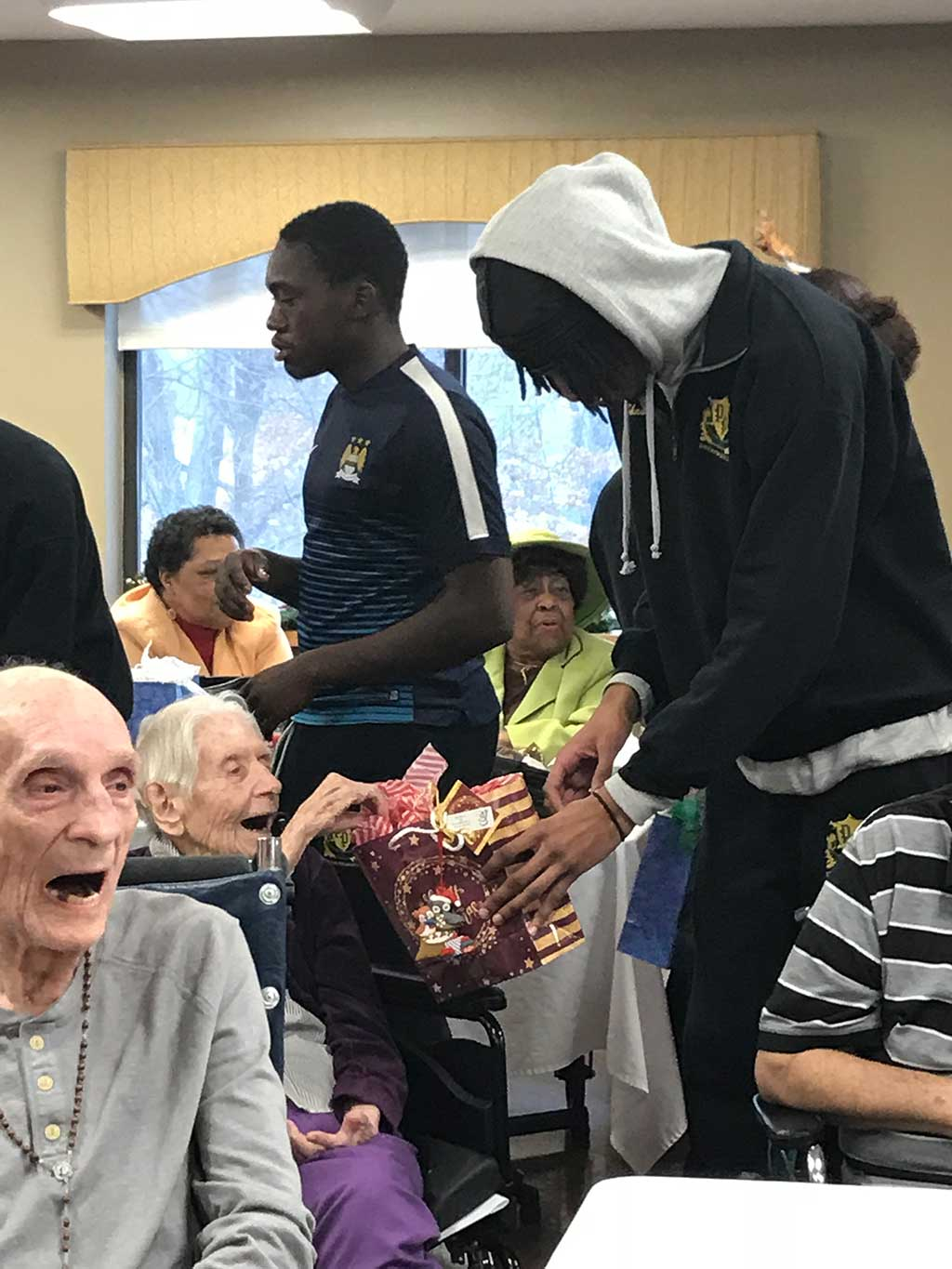 sharing with the elderly